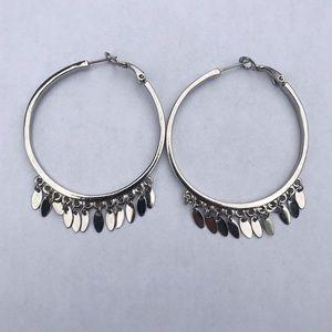 Hoop Earrings with Dangle Charms